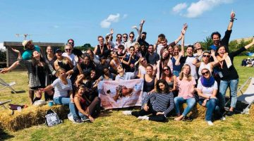 youngcaritas in Europe group at the summer university in Saint Malo