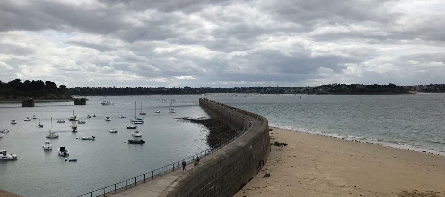 The city wall in Saint-Malo
